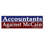 Accountants Against McCain car sticker