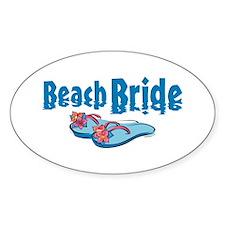 Beach Bride 2 Oval Decal