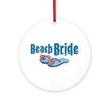 Beach Bride 2 Ornament (Round)