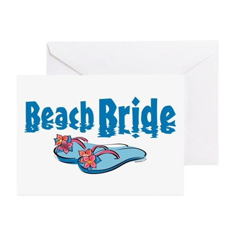 Beach Bride 2 Greeting Cards (Pk of 10)