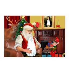 Santa's White Cat Postcards (Package of 8)