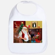Santa's White Cat Bib