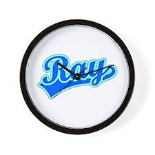 Retro Ray (Blue) Wall Clock