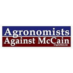 Agronomists Against McCain car sticker