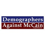 Demographers Against McCain sticker