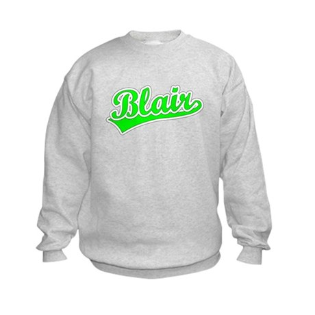 Retro Blair (Green) Kids Sweatshirt