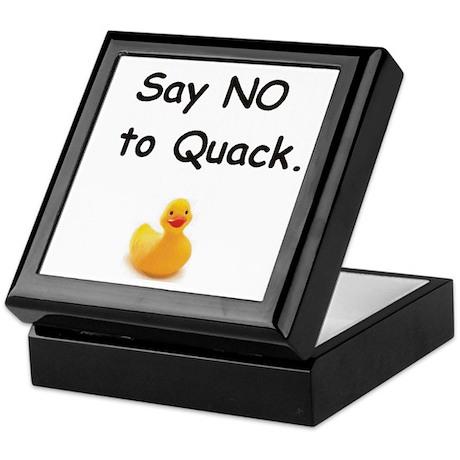 """Say no to quack"" Keepsake Box"