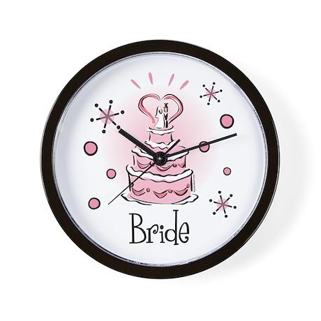 Wedding Cake Bride Wall Clock