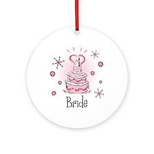 Wedding Cake Bride Ornament (Round)