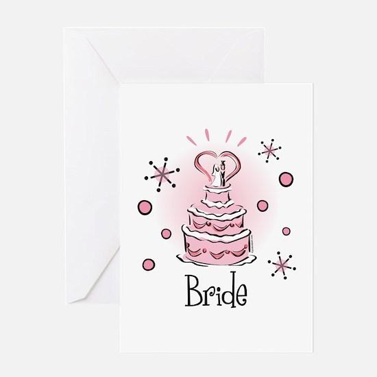 Wedding Cake Bride Greeting Card