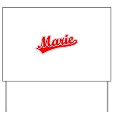 Retro Marie (Red) Yard Sign