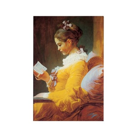 Young Girl Reading c. 1776 Rectangle Magnet (10 pa