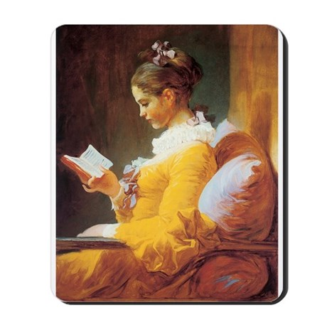 Young Girl Reading c. 1776 Mousepad
