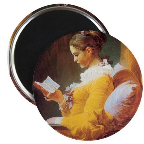 "Young Girl Reading c. 1776 2.25"" Magnet (10 pack)"