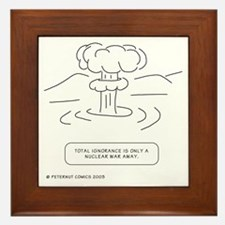 Cute Humor nuclear Framed Tile