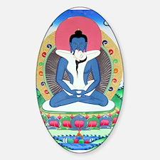 Samantabhadra Buddha Oval Decal