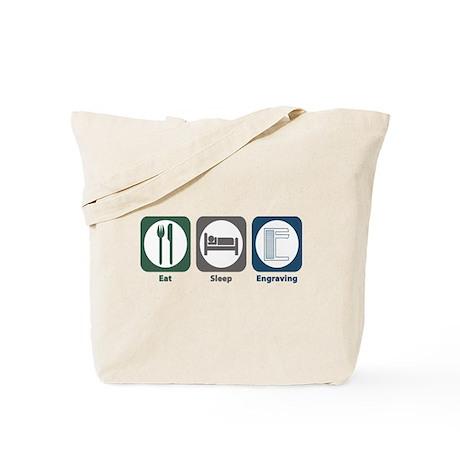 Eat Sleep Engraving Tote Bag