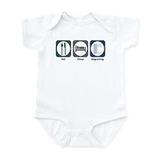 Eat Sleep Engraving Infant Bodysuit