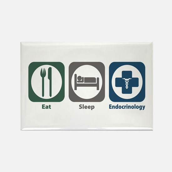 Eat Sleep Endocrinology Rectangle Magnet