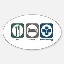 Eat Sleep Endocrinology Oval Decal