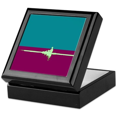 ROWER TEAL PURPLE Keepsake Box