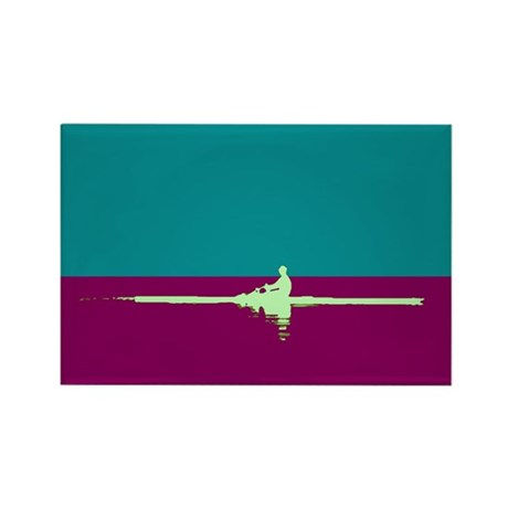 ROWER TEAL PURPLE Rectangle Magnet (100 pack)