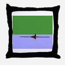 ROWER GREEN BLUE Throw Pillow