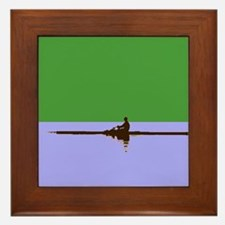 ROWER GREEN BLUE Framed Tile