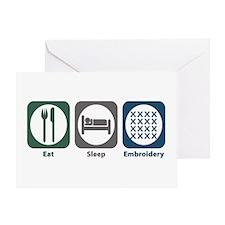 Eat Sleep Embroidery Greeting Card