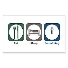 Eat Sleep Embalming Rectangle Decal