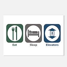 Eat Sleep Elevators Postcards (Package of 8)