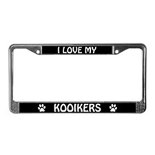I Love My Kooikers License Plate Frame