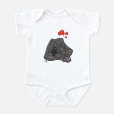 N Blue MomloveII Great Dane Infant Creeper