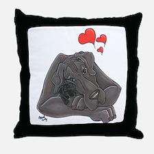 N Blue MomloveII Great Dane Throw Pillow
