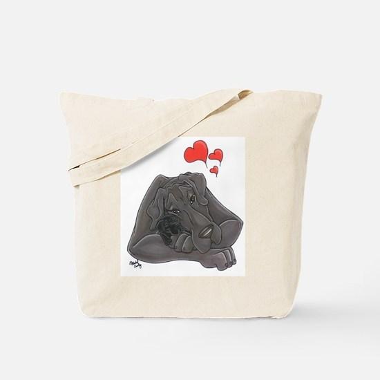 N Blue MomloveII Great Dane Tote Bag