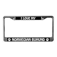 I Love My Norwegian Buhund License Plate Frame