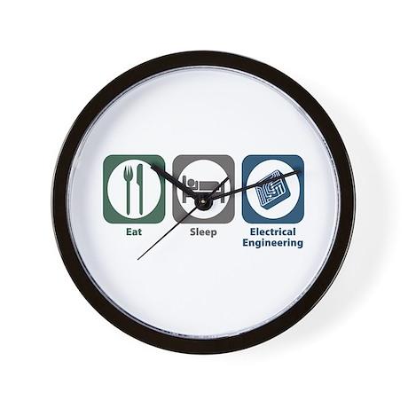 Eat Sleep Electrical Engineering Wall Clock