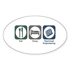 Eat Sleep Electrical Engineering Oval Decal