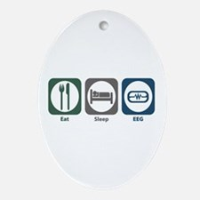 Eat Sleep EEG Oval Ornament