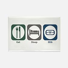 Eat Sleep EEG Rectangle Magnet