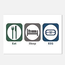 Eat Sleep EEG Postcards (Package of 8)