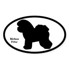 Bichon Frise Silhouette Sticker (Euro Style)