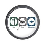 Eat Sleep Education Wall Clock