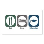 Eat Sleep Education Rectangle Sticker 50 pk)