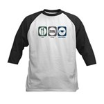 Eat Sleep Education Kids Baseball Jersey