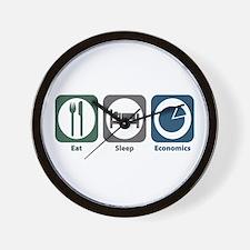 Eat Sleep Economics Wall Clock