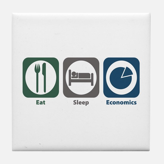 Eat Sleep Economics Tile Coaster