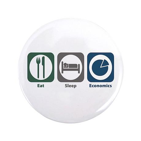 "Eat Sleep Economics 3.5"" Button (100 pack)"