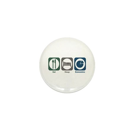 Eat Sleep Economics Mini Button (10 pack)