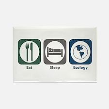 Eat Sleep Ecology Rectangle Magnet (100 pack)